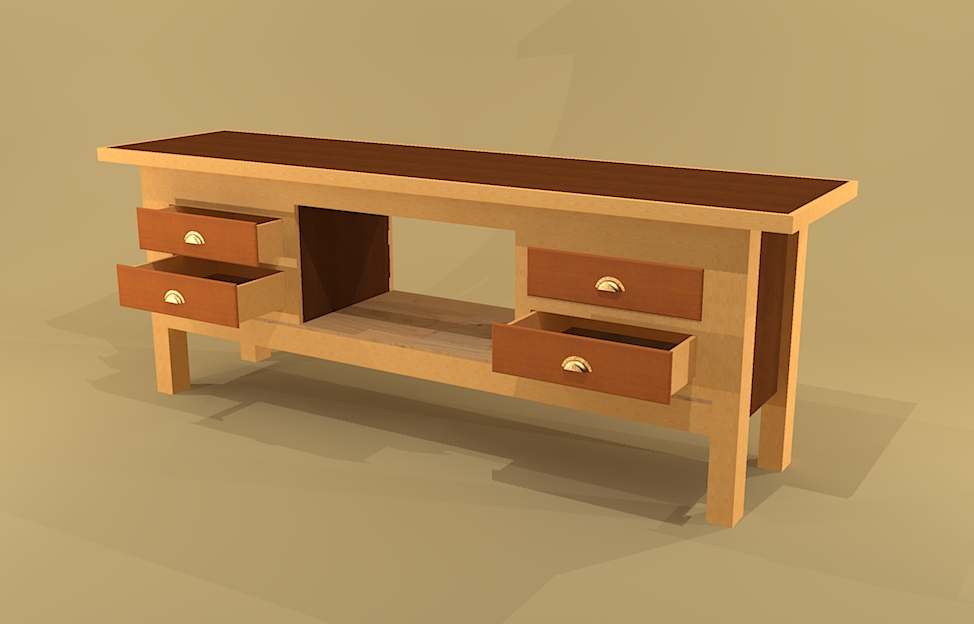 build a workbench with drawers