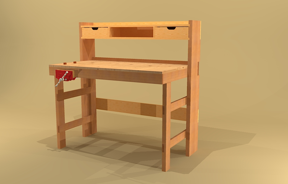 Crafters Folding Workbench Plans