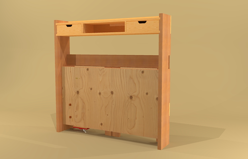 Folding workbench woodworking plans