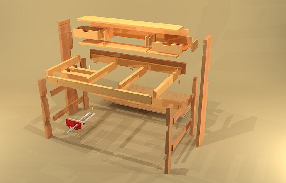 DIY Folding Workbench Plans