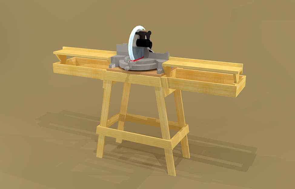Miter Saw Stand Plans | Teds Woodworking Review