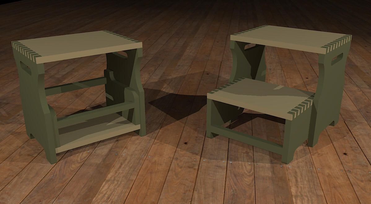 Children_Furniture Step Stool Rendering-2.jpg : childs step stool plans - islam-shia.org